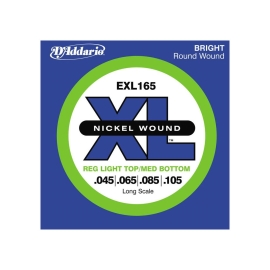 מיתרים לגיטרה בס D'Addario EXL165 XL Nickel Round Wound Soft/Regular