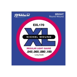 מיתרים לגיטרה בס D'Addario EXL170 Nickel Wound Bright Round Wound
